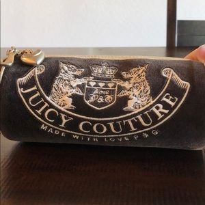 Juicy Couture tootsie roll makeup bag